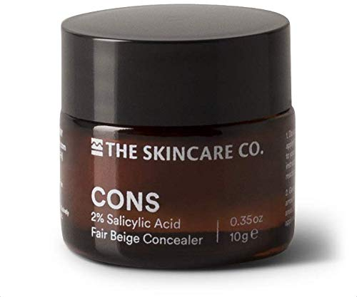 (CONS - Organic Natural Concealer Paste for Blemished Skin (Fair Beige) 0.35 oz)