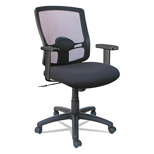 Alera ALEET4017B Etros Series Mesh Mid-Back Petite Swivel/Tilt Chair, Black