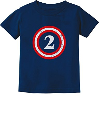 Captain America 2 Outfit (Captain 2nd Birthday - Gift For Two Years Old Toddler/Infant Kids T-Shirt 2)