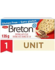 Breton Gluten Free Original with Flax crackers, 135 g ( Packaging may vary )