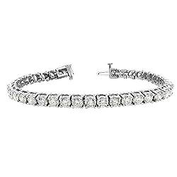 Ladies Round Diamond Tennis Bracelet