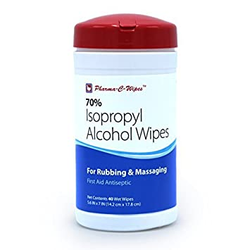 Pharma C 70% alcohol isopropílico IPA Toallitas Limpiador desinfectante, 6 botes 40 toallitas, toallitas 240 total: Amazon.es: Hogar