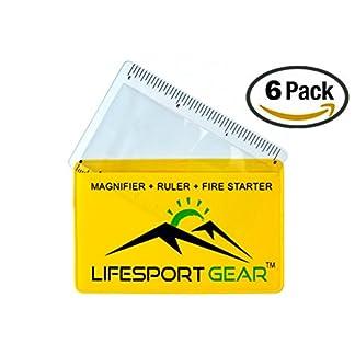 6 Pk Credit Card Fresnel Lens Pocket Magnifier Solar Fire Starter