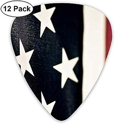 American Flag Us Púas de guitarra 12 paquetes para bajo, guitarra ...