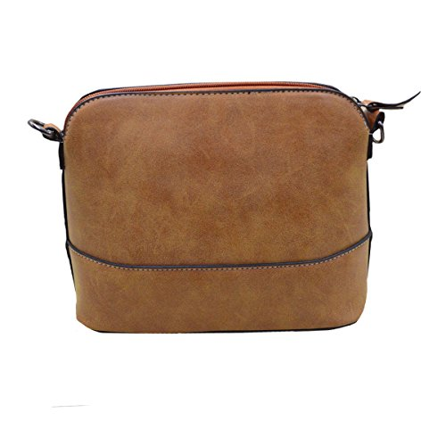 Crossbody YAOSEN Modern Women Classic Shell Bag Gold Brown Bag Solid Matte with Letter n00gqX1r