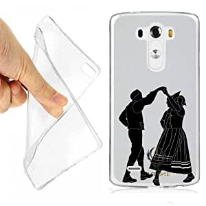 CUSTODIA COVER CASE COUNTRY BALLO COPPIA PER LG G4 OPACO