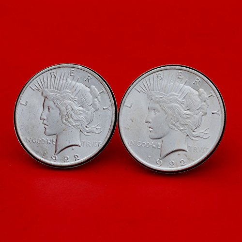 US 1922 Peace Silver Dollar BU Uncirculated Coins Silver Cufflinks NEW by jt6740