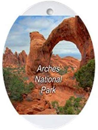 TIFA-LOVE Arches National Park Ornament Oval Ceramic Christmas Ornaments for Christmas Tree Decoration Novelty Gifts for Kids Girls Women