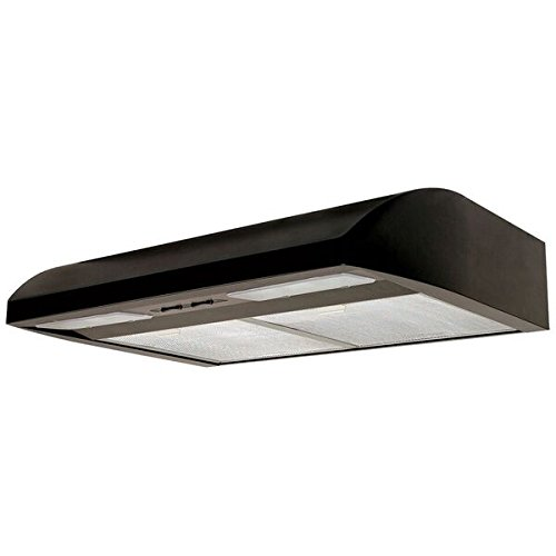 Air King Air King EB30BL 30-Inch Essence 2-Speed Convertible Range Hood with 250-CFM at 5.0-Sones, Black Finish Black