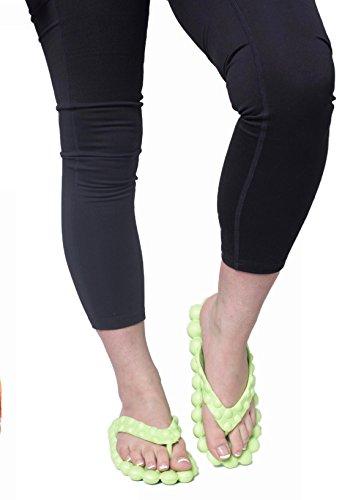 Reflexology Bubble Massage Flip Flop Sandals (8, Lime - Flip Flop Green Lime