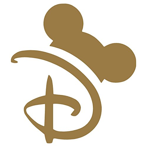Crawford Graphix Disney Letter D, Mouse Ears, Disney World Decal Car Truck Automotive Window Decal Bumper Sticker (5.5