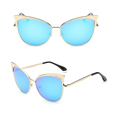 [BENNINGCO Womens European and American fashion personality sunglasses glasses Cat Eye] (Bay Watch Costumes)
