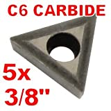 "Anytime Tools 3/8"" C6 Carbide Insert for Indexable"