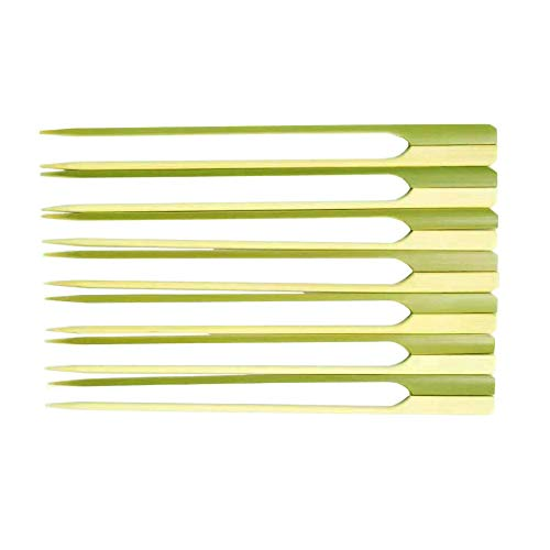 - TKDY 8 Inch Bamboo Paddle Handle Skewers, 100 Pcs BBQ Kabob Stick for Outdoor Grilling and Cocktail Picks.