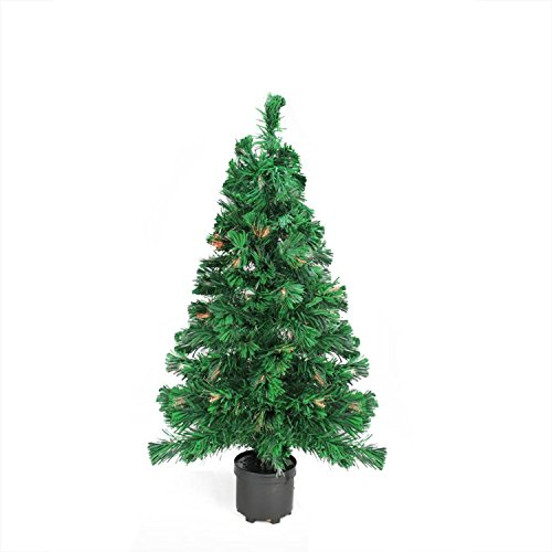 DAK 2' Pre-Lit Color Changing Fiber Optic Artificial Christmas Tree - Multi Lights (Optic 2ft Fibre Christmas Tree)