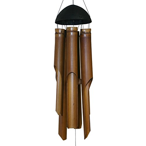 Cohasset Gifts Bamboo Wind Chimes | Natural Beautiful Sound | Wood Outdoor Home Decor | Plain Antique: Small, Medium, Large (Make Bamboo Wind Chimes)