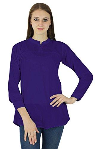 Sundress Frauen Boho Oben Kleidung Tragen Baumwollkleid Des Sommers Beiläufige Tunika Königsblau