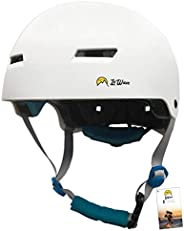 Helmet Skate Skateboard – Impact Absorption Protection – Size Adjuster and Goggle clip – Safety & Lightwei