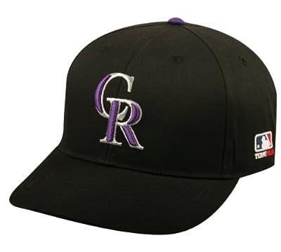 2013 Youth FLAT BRIM Colorado Rockies Home Black Hat Cap MLB Adjustable