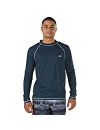 Speedo Men's UPF 50+ Easy Long Sleeve Rashguard Swim Tee