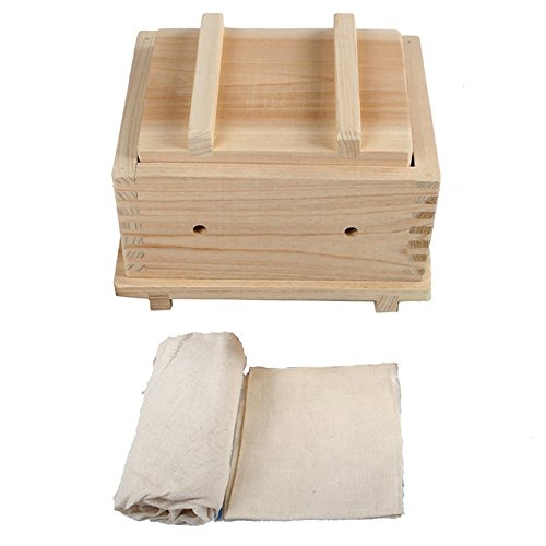 MyLifeUNIT Wood Tofu Maker Kit with Cheesecloth