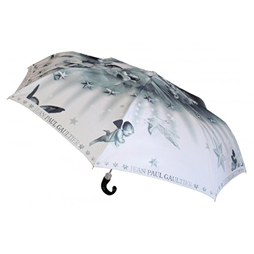 Jean Paul Gaultier - Luxury Men's Angel Automatic Folding Umbrella - Grey by Jean Paul Gaultier