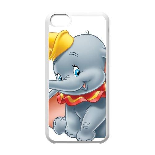 Dumbo 010 coque iPhone 5C Housse Blanc téléphone portable couverture de cas coque EOKXLLNCD18188