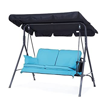 Turquoise Complete Replacement Cushions Set For 2 Seater Swing Seat