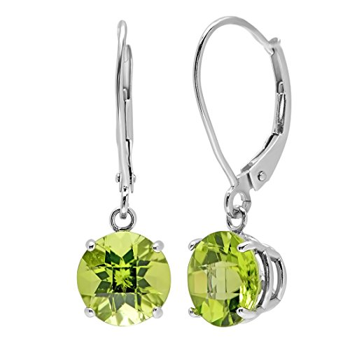 10k-white-gold-checkerboard-peridot-lever-back-earrings