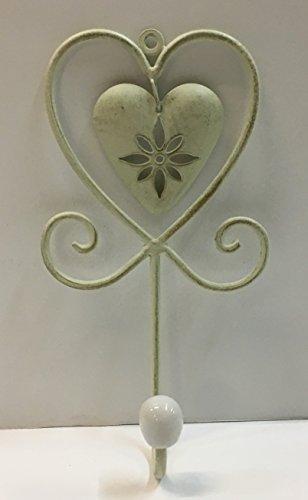 Perchero Individual Corazón de hierro, estilo shabby, CM12 X ...