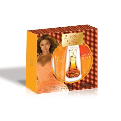 Beyonce Heat Rush 3 Piece Gift Set (Eau de Toilette Spray, Shower Gel, Body Lotion) (Feminine Gel Eau De Toilette)