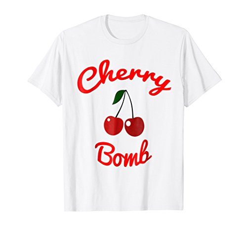 (Retro 70s Cherry Bomb Vintage Style Cute T-Shirt)
