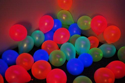 DirectGlow Brand Assorted 5 inch UV Blacklight Reactive Latex Decorator Balloons (100)