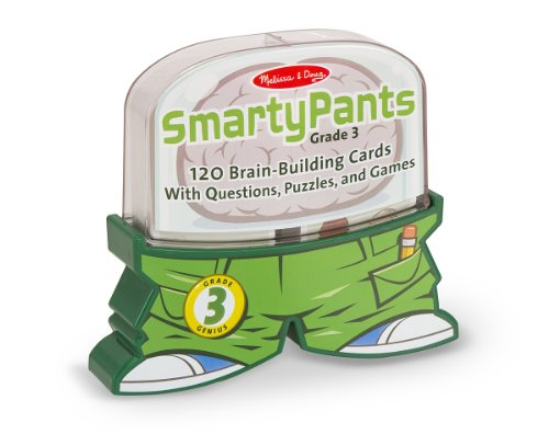 Melissa & Doug Smarty Pants 3rd Grade Card Set - 120 Educational, Brain-Building Questions, Puzzles, and ()