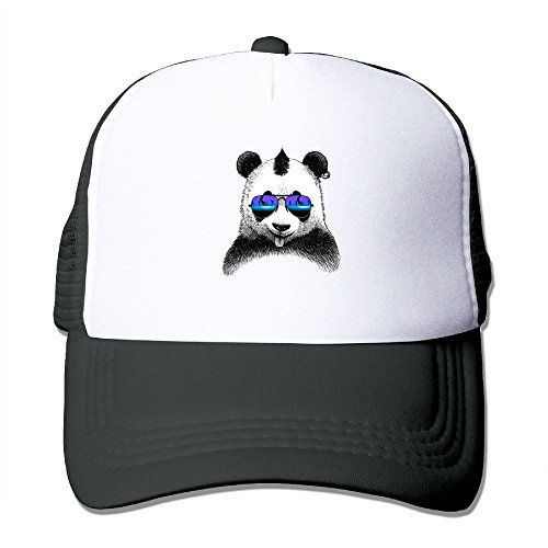 Sunglasses Panda Summer Sun Protection Mesh Cap Baseball Hat Cap - Glass Sox Art