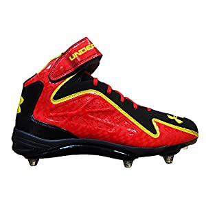 Under Armour Team Renegade Detachable Com Wide Football Cleats (16, Black/Red/Taxi)
