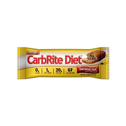 - Doctor's CarbRite Diet Sugar-Free Protein Bar - Chocolate Banana Nut (1 Bar)