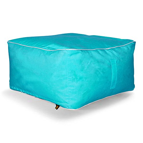 Sunbrella Large Square Bean Bag Ottoman, Aruba by Hip Chik Chairs