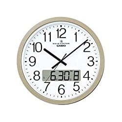 Casio Clock Large Radio Wall Clock Ic-4100J-9Jf Dual Time Problem Chime Champagne Gold Analog