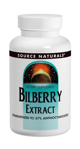 Source Naturals Bilberry Extract 100mg, Standardized Botanical Antioxidant, 120 Tablets by Source Naturals