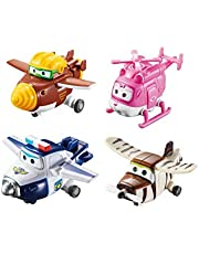 """Super Wings - Transforming Toy Figures 4 Pack 