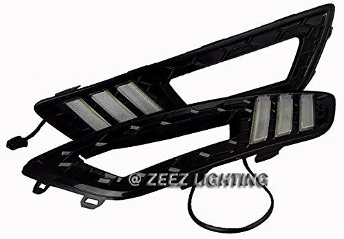 [해외]ZEEZ DRL - 포드 포커스 15-17 용 크세논 크세논 화이트 고전력 주간 주행 라이트 DRL 램프 키트/ZEEZ DRL - Exact Fit Xenon White High Power LED Daytime Run