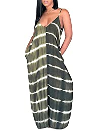 NANYUAYA Women Summer V Neck Spaghetti Strap Sleeveless Long Dress with Pockets