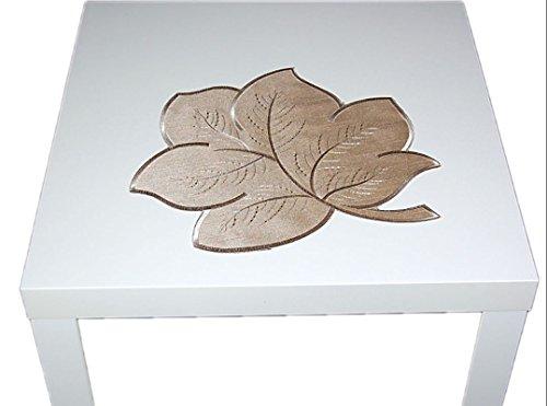 Tischdecke PLAUENER SPITZE® Blätter BLATT 46 cm Polyester Deckchen Herbst Sommer modern BEIGE (Blatt 46 cm)