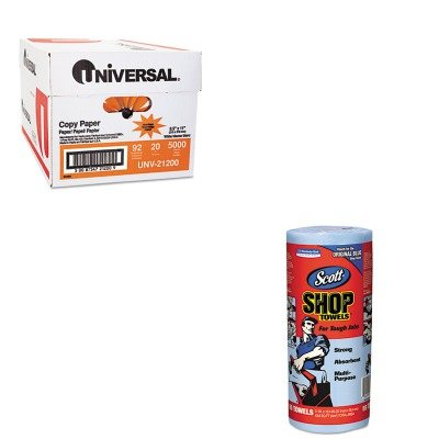 KITKIM75130UNV21200 - Value Kit - KIMBERLY CLARK SCOTT Shop Towels (KIM75130) and Universal Copy Paper (UNV21200)