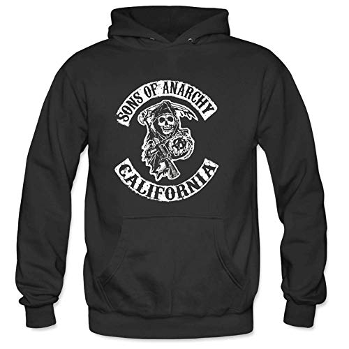 Bart Perkin Men's Hallowmas Sons of Anarchy California Male Hooded Sweatshirts S Black