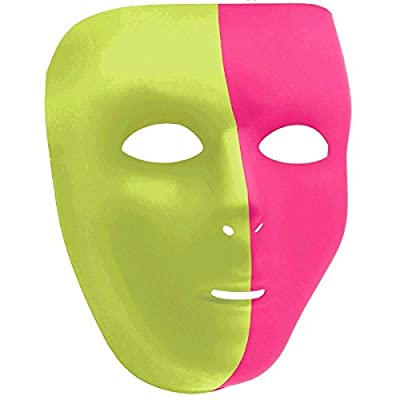 Amscan Full Face Mask, Party Accessory, Neon: Kitchen & Dining