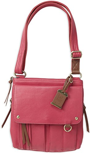 Bulldog Cases Medium Cross Body Style Concealed Carry Purse, Holster Pink