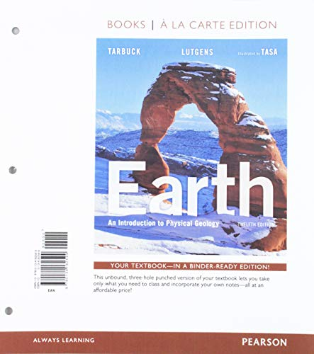 Earth: An Introduction to Physical Geology, Books a la Carte Edtion; Modified Mastering Geology with Pearson eText -- ValuePack Access Card -- for ... to Physical Geology (12th Edition) (An Introduction To Physical Science 12th Edition)
