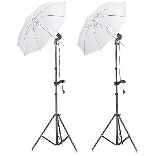 Neewer 400W 5500K Photo Studio Continuous Lighting Umbrellas Kit for Portrait...
